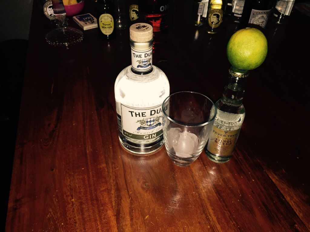 Duke Gin, Fevertree, Limette