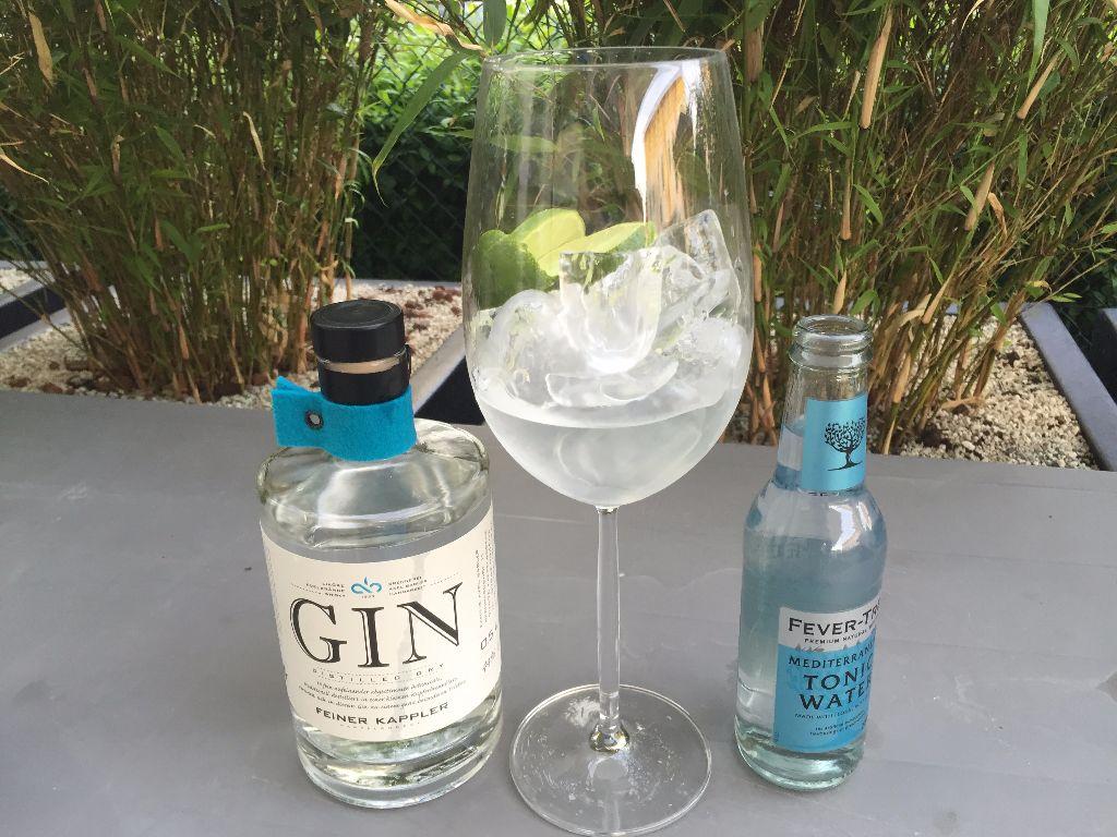 Feiner Kappler Gin, Fever Tree Meditaranea, Limette